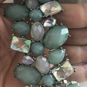 Loft Green gem stretch bracelet